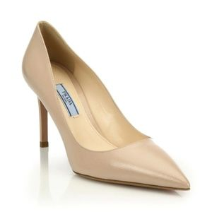 Prada Pump - Patent Hatch Leather - Nude - 35.5